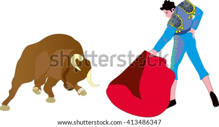 bullfight2 - stock vector