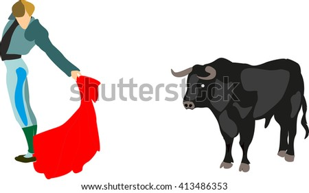 bullfight1 - stock vector