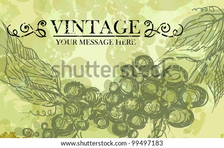 Bunch of grapes. Vector illustration. Eps 10. - stock vector