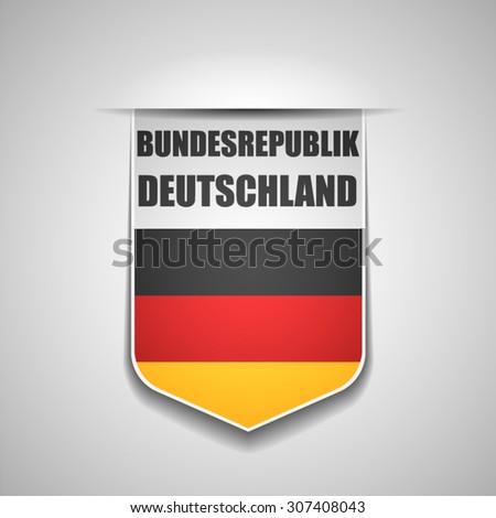 Bundesrepublik Deutschland - stock vector