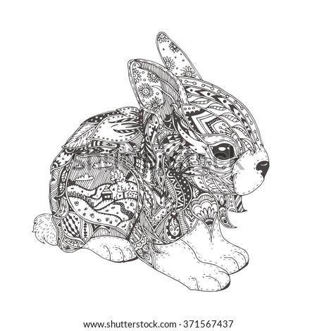 Animal Zentangle Coloring Page