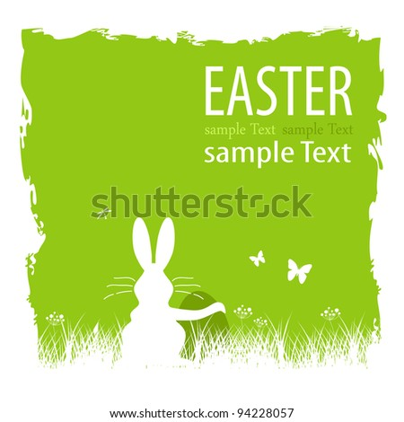 Bunny with egg - stock vector