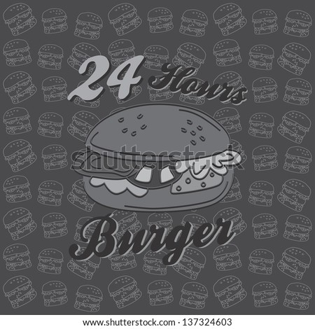 burger delivery art page - stock vector