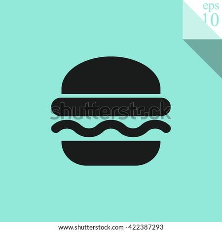 Burger Icon. Burger Icon Vector. Burger Icon Sign. Burger Icon Picture. Burger Icon Image. Burger Icon Illustration. Burger JPEG. Burger EPS10. Burger Logo. Burger Button. Fast food symbol. Junk food. - stock vector