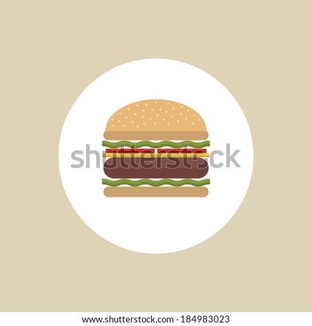 Burger icon. Hamburger. Vector illustration - stock vector