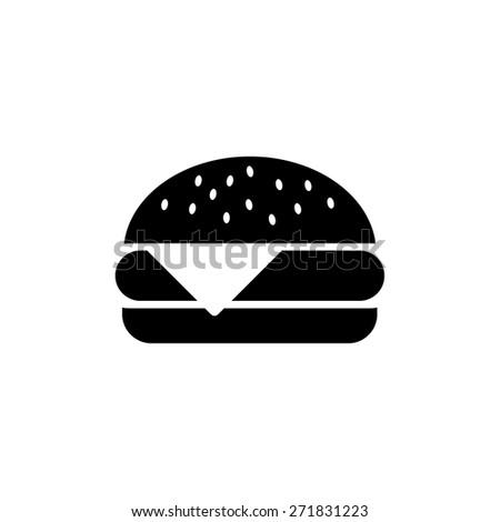 Burger, vector illustration - stock vector