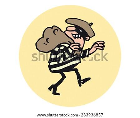 Burglar - stock vector