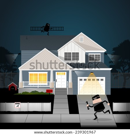 Burglar 4 - stock vector