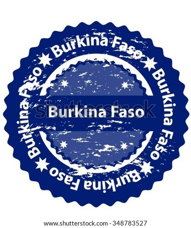 Burkina Faso Country Grunge Stamp - stock vector