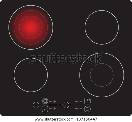 Burners vector - stock vector