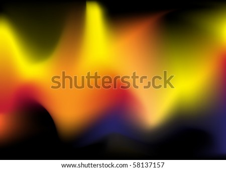 Burning Background - stock vector