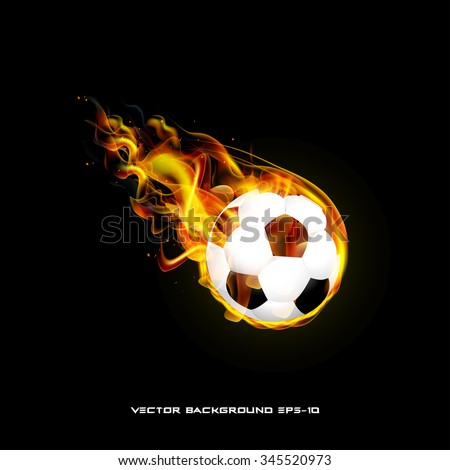 Burning ball on a black background illustration of  stylish - stock vector