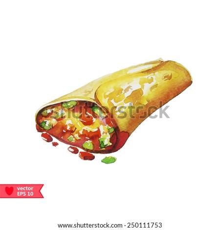Burrito. Vector  Illustration - stock vector