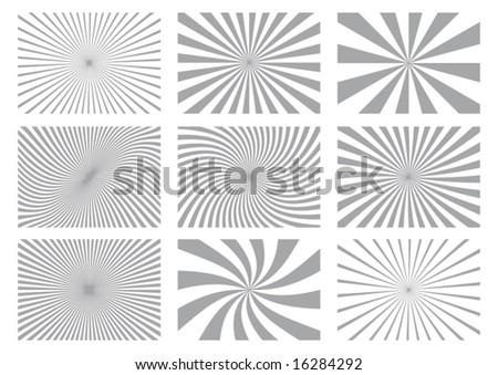 Burst Background Design Elements - stock vector