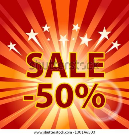 burst  sale background - stock vector