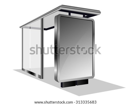 Bus Stop Glass Billboard - stock vector