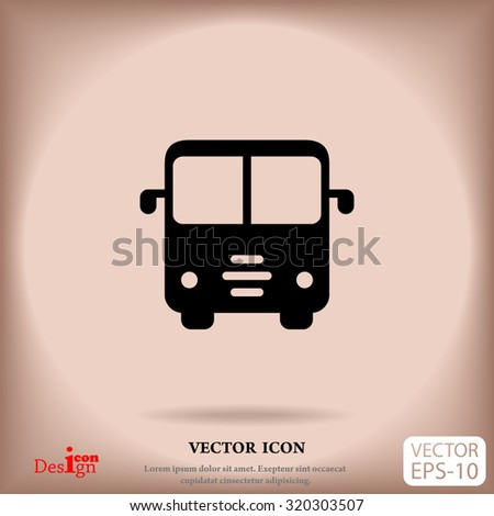 bus vector icon - stock vector