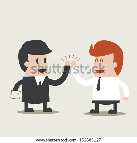 Busineds Cooperation. - stock vector