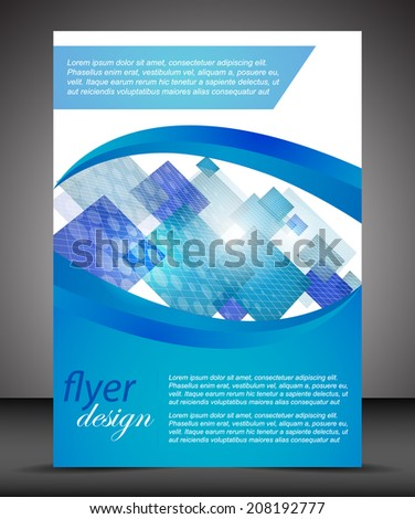 Business A4 booklet cover, flyer brochure design/design with place for your content/vector illustration - stock vector