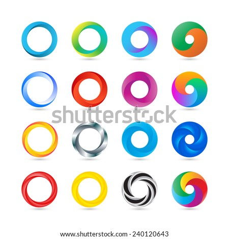 Business Abstract Circle logo icon. Corporate, Media, Technology styles vector design - stock vector