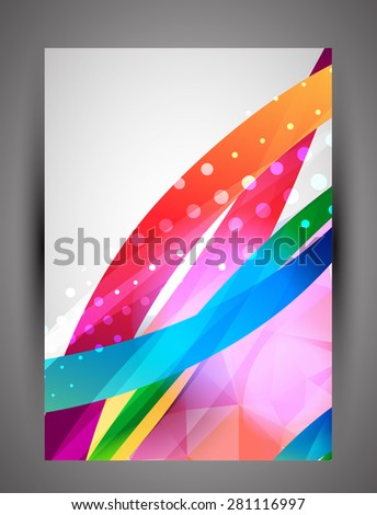 Business abstract color wave corporate background. Vector - stock vector