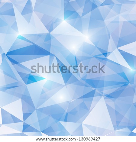 Business Abstract  Design Template. Vector Shiny Background made with Triangles. Low poly style background. - stock vector