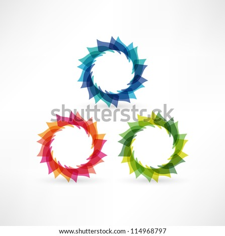 Business abstract icons - stock vector