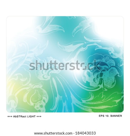 Business abstract template with copy space, web banner  - stock vector