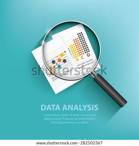 Business analysis design on blue background,clean vector - stock vector