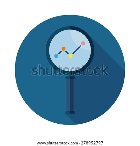 Business Analysis symbol icon - stock vector