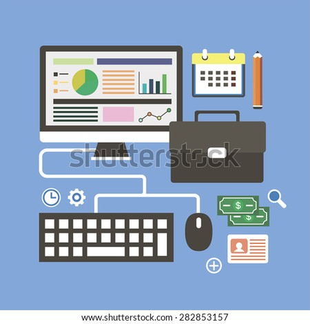 Business analyst - stock vector