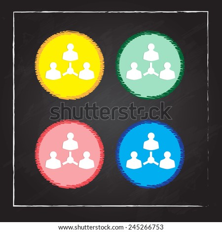 business and corporate icons - stock vector