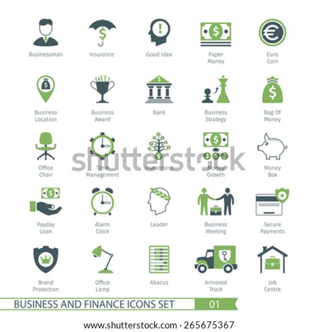 Business and FIinance Icons Set 01 - stock vector