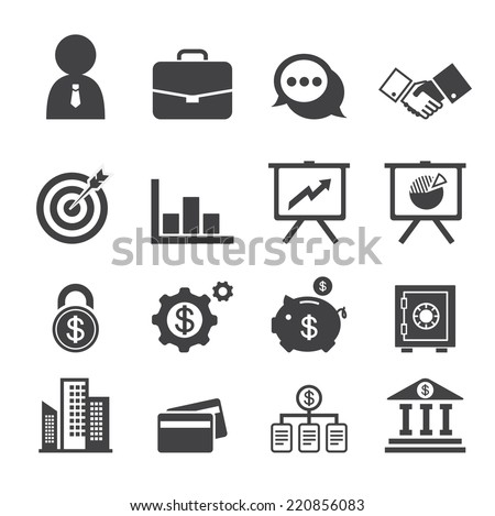 business and finance - stock vector