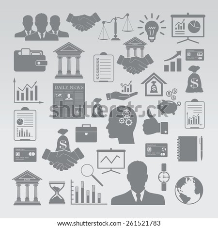 Business and Finance icon set. - stock vector