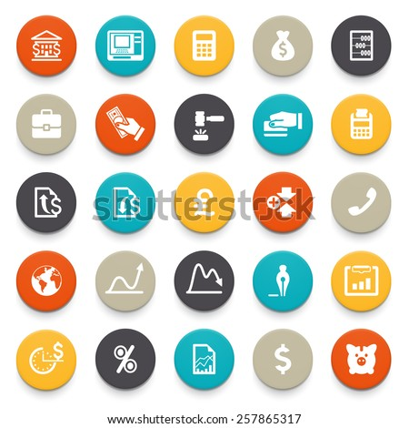 Business and finance icons. - stock vector