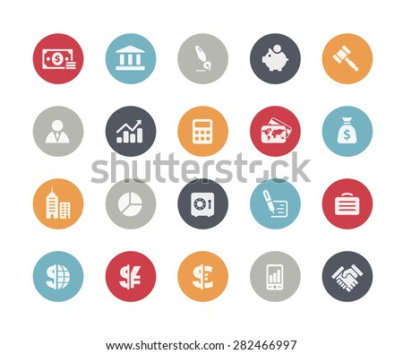 Business and Finance Icons // Classics Series - stock vector