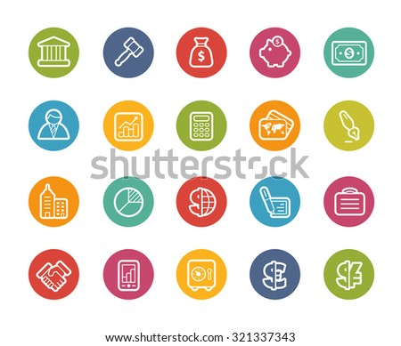 Business and Finance Icons // Printemps Series - stock vector
