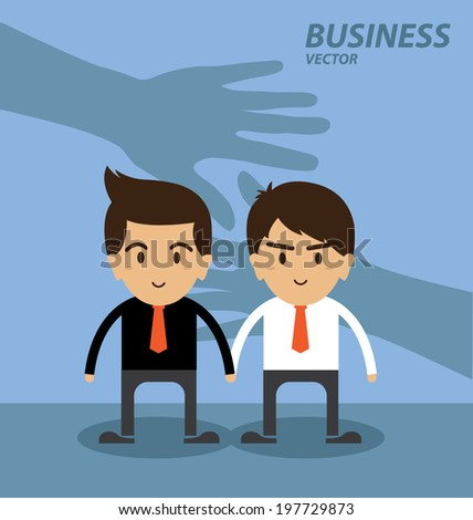 Business and finance Investment hand shake concept - stock vector