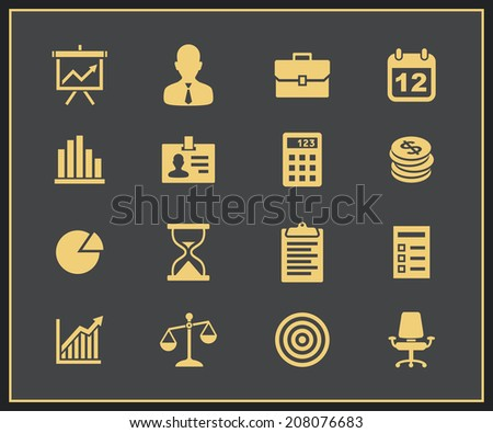 Business and financial icons. Vector icons - stock vector