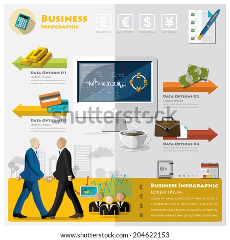 Business And Financial Infographic Design Template - stock vector