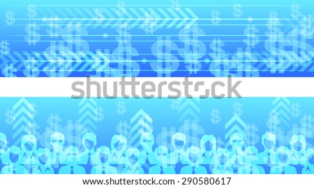 Business and growth theme vector horizontal web banner design. - stock vector