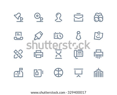 Business and office icons. Line series - stock vector