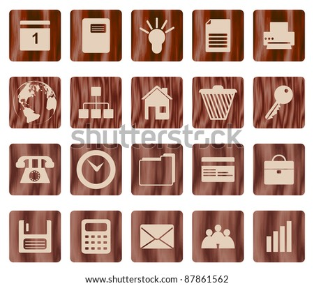 Business and office set of different vector web icons - stock vector