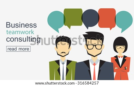 business and teamwork consulting - stock vector
