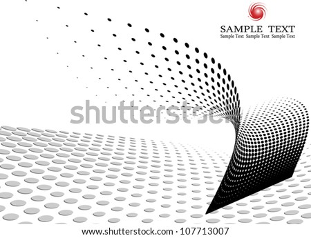 Business background composition, Web template (halftone) - stock vector