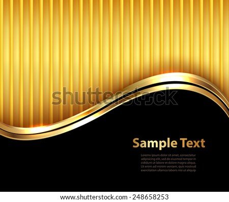 Business background, elegant gold and black, vector illustration. - stock vector