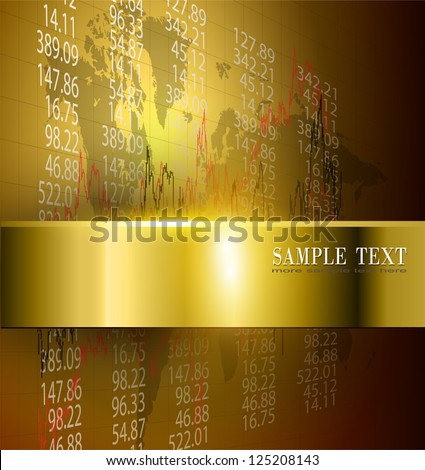 business background gold, vector. - stock vector