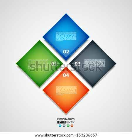 Business background. Modern design template. Can be used for infographic. EPS10 vector - stock vector
