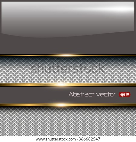 Business background with glossy banner, elegant vector illustration. - stock vector
